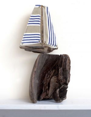Driftwood Boat Cliff Top Boat