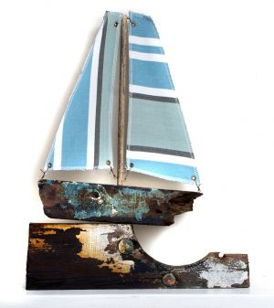 Driftwood Boat On A Harbour